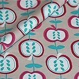 Jerseystoff Baumwolle Meterware Apfel Print Kinder Jersey