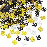 Xhuan - Numero di 30 coriandoli Glitterati per 30° Compleanno, Decorazione da Tavolo, 50 g