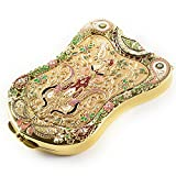 Jinvun Gold Compact Mirror Shield antico vintage makeup Purse Mirror & Beautiful, specchio da viaggio, buona idea regalo