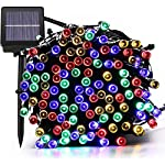 Magiclux Tech 300 LED Solar String Lights, Waterproof Outdoor Fairy Lighting for Christmas, Home, Garden, Tree, Party, Holiday Decoration - Multicolour, 38ft, 8-in-1 Mode (300 Solar Color Lights) 3