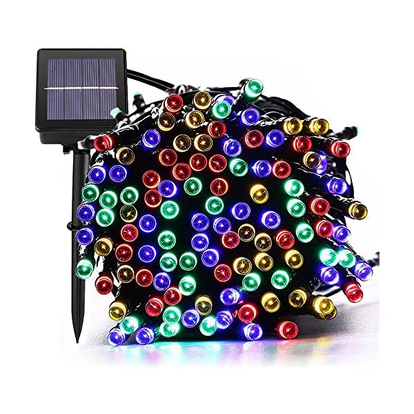 Magiclux Tech 300 LED Solar String Lights, Waterproof Outdoor Fairy Lighting for Christmas, Home, Garden, Tree, Party, Holiday Decoration - Multicolour, 38ft, 8-in-1 Mode (300 Solar Color Lights) 1