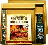 Das ultimative MännerGrillbuch Geschenkeset mit King of the Grill Zollstock und original Jack Daniel's BBQ Sauce im Geschenkkarton