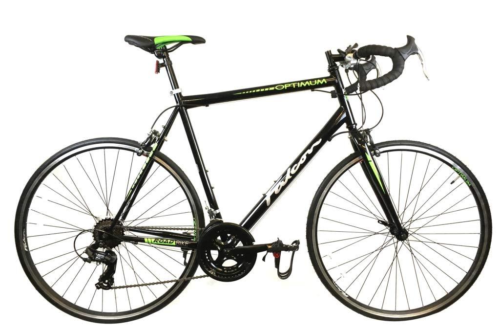 61MKqyDSipL - Falcon Optimum Mens Road Racing Bike - Black/Green