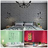 KINLO 10 Stücke Wanddekor Ziegel 70x77x1cm grau Verdickt selbstlebend SteinWand 3D modern Wasserdicht Wandpaneele aus hochwertigem PVC für Zimmer 2 Jahren Garantie