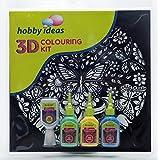 Pidilite 3 D Colouring Kit - Mandala (Butterfly)