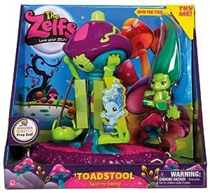 The Zelfs Toadstool Twirl-n-Swing Playset