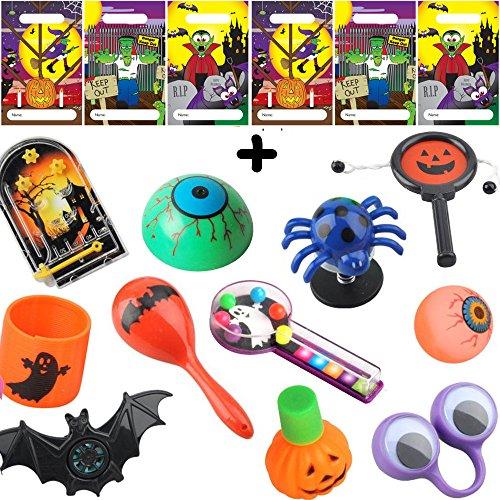 German Trendseller® - Halloween Mitgebsel ┃ inkl. Tütchen ┃ Überraschung für 6 Kinder ┃ 18 - - Für Spiele Erwachsene Halloween-wörter
