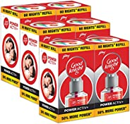 Goodknight Power Activ+, Mosquito Repellent - 60 Nights Jumbo Refill (Pack of 6)