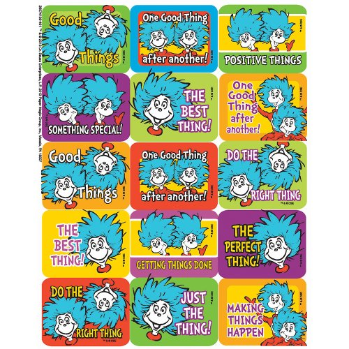 Eureka Dr. Seuss Thing 1 and 2 Success Stickers
