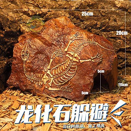 4ALice&Pet nascondigli Habitat Lizard Snake Spider Lair Testa di Pecora Rinoceronte del Cranio, fossile di Drago di Resina