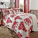 Étnico elefante 5piezas Bed in a Bag–Juego de funda de edredón/Cojín/Runner Floral, Rojo, 230x220x0.2 cm