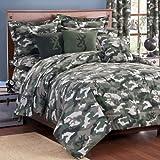 camouflage noir gris blanc lit housse de couette et 2 taies d oreiller sommier parure de lit