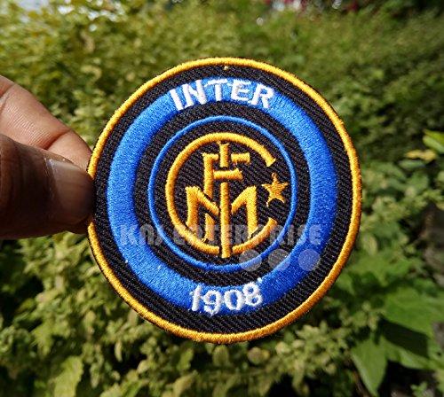 'European Club Inter Mailand Inter 1908' Logo | Hohe Qualität | Eisen auf Patch | Sew auf bestickt Patch | Eisen Buttons für Kleidung | Größe: 7,5cm
