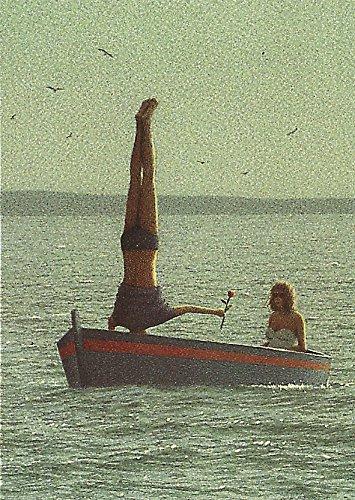 """Postkarte A6 • 2802 """"Paar im Boot"""" von Inkognito • Künstler: Quint Buchholz • Liebe & Romantik"""