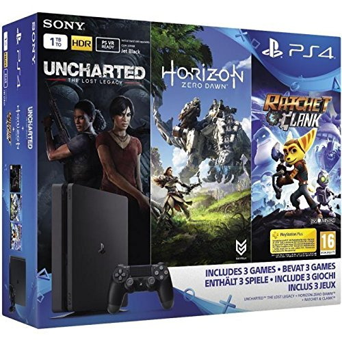 PS4 Slim 1 To + Horizon Zero Dawn + Uncharted: The Lost Legacy + Ratchet & Clank