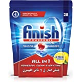 Finish All in 1 Dishwasher Detergent Lemon Powerball, 28 Tablets