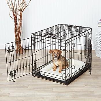 AmazonBasics Cage pliante en métal avec 2portes pour chien TailleS