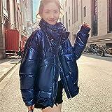 Pike coat da donna Inverno Lucido Impermeabile Cappotto Parka Donne Inverno Grandi Dimensioni Inverno Allentato Caldo Giacca Spessa Parka Donne Piumino femminile ( Color : Royal Blue , Size : L )