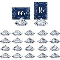 HOHIYA Segnaposto Diamante Trasparente Matrimonio Decorazione Carta Tavola 20 Pezzi