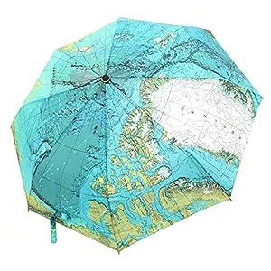 CHRISLZ Paraguas del Mapa Mundial Sombrilla Automática del Mundo Paraguas de Protección solar Paraguas Plegables a Prueba de Viento del Mapa