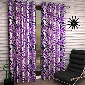 Home Sizzler Set of 2 Window Curtains - 5 Feet Long