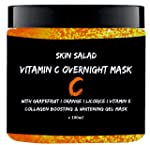 SkinSalad Vitamin C Face Mask with Grapefruit, Orange and Licorice Extract, Collagen boosting, Anti-aging, Glowing and...