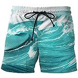 Bfustyle Herren 3D gedruckte Boardshorts Cool Hawaiian Badehose für den Sommerurlaub Urlaub