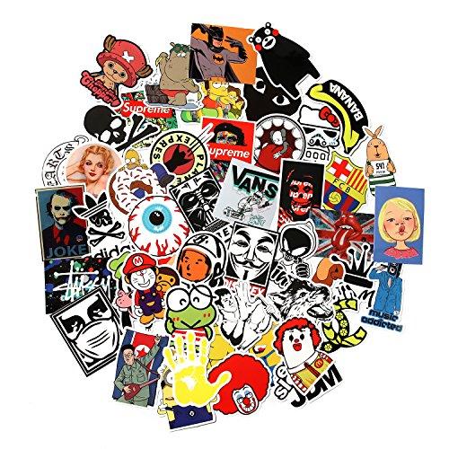 Conjunto de 100 adhesivos de vinilo aleatorios para coches, motocicletas, bicicletas, portátiles,...