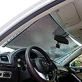 LOCEN Auto Sonnenschutz Frontscheibe Sonnenblende Sonnenschutzrollos Schutz vor UV-Strahlen für Kinder 45 cm
