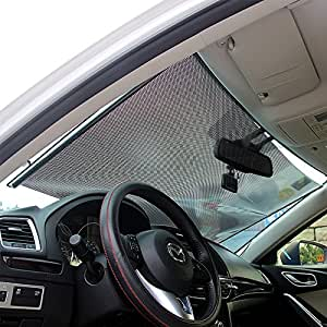 locen auto sonnenschutz frontscheibe sonnenblende sonnenschutzrollos schutz vor uv strahlen f r. Black Bedroom Furniture Sets. Home Design Ideas