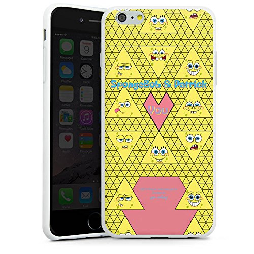 Apple iPhone X Silikon Hülle Case Schutzhülle Spongebob Merchandise Fanartikel Patrick und Spongebob Silikon Case weiß