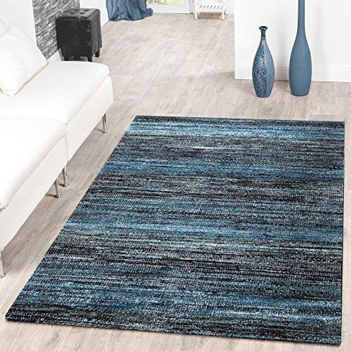 –Alfombra pelo corto azul Modern Muli TCO Lour, 80 x 150 cm