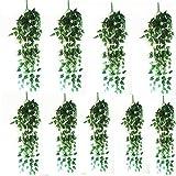 Natural Home 90cm Hängende Deko Blumen Efeu Girlande Efeubusch Efeugirlande Efeuranke Künstliche Kunstpflanze Hängend Blätter 10er Pack