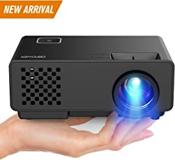 "DBPOWER Mini Beamer, 2000 Lumen HD 1080P LED Video Projektor mit 176"" Display, 50.000 Lebensdauer, Heimkino Projektor Kompatibel mit Amazon Fire TV Stick, HDMI/VGA/AV/USB, Multimedien Heimkino Entertainment"