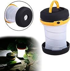 Vmoni Portable LED Light Foldable Collapsible Lantern (Multicolour)
