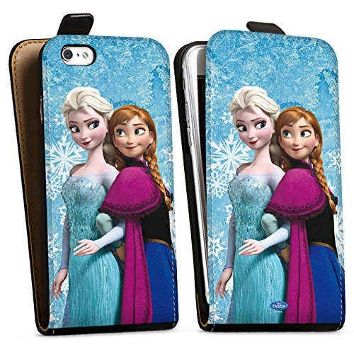 Apple iPhone 6 Plus Hülle Premium Case Cover Disney Frozen Geschenke Merchandise Downflip Tasche schwarz