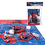 Disney - Pack de fiesta reciclable Spiderman - mantel + platos +