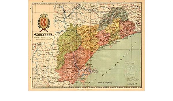 Cartina Catalogna.Tarragona Cataluna Catalunya Catalogna Provincia Antigoo Mapa Martin C1911 Mappa Vintage Antica Mappe Stampate Della Spagna Amazon It Casa E Cucina
