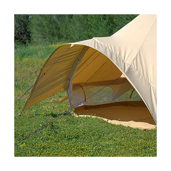 Boutique Camping Tents 5m Sandstone Star Bell Tent With Zipped In Ground Sheet 7