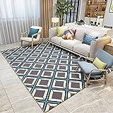 GRENSS Im europäischen Stil Wohnzimmer Teppich Moderne, Minimalistische Geometrische Pixel Color Sofa Kurz- Teppichboden Schlafzimmer mit Etagenbetten und Decken Waschbar, 120 cm * 160 cm, AO-05