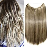 20'(50cm) Extensiones de Cabello Natural con Hilo Invisible Sin...