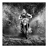 Bilderwelten Vliestapete - Motocross im Schlamm - Fototapete Quadrat Vlies Tapete Wandtapete Wandbild Foto, Größe HxB: 192cm x 192cm