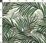 Palme, Tropisch, Blätter, Grün, Dschungel, Vintage Stoffe
