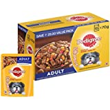 Pedigree Adult Wet Dog Food, Grilled Liver Chunks Flavour in Gravy with Vegetables, 15 Pouches ( 15 X 70 g )