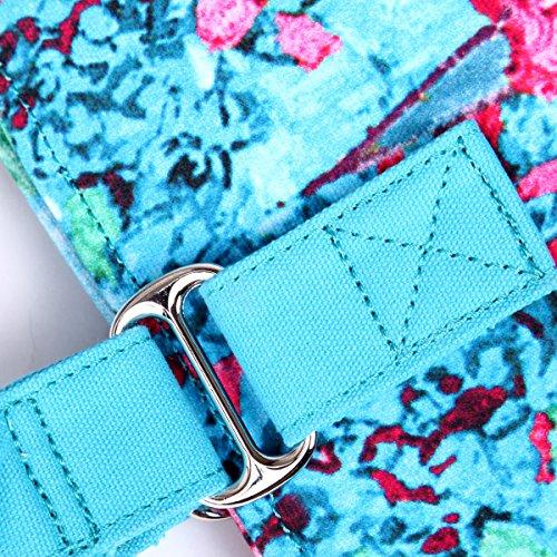 Eshow Borse a tracolla da donna di tela a mano Multifunzione per viaggio sacchetto borsa shopper bag shopping trekking rosa