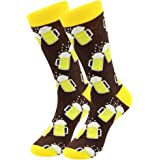 Men's Dress Cool Colorful Fancy Novelty Funny Casual Combed Cotton Crew Socks Pack, Men's Fun Dress Socks Patterned Office So