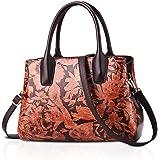NICOLE&DORIS Handtaschen Damen Schultertasche Umhängetasche RetroTote Oberer Griff Tasche Geldbörse für Lady