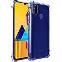 TheGiftKart Transparent Crystal Clear Samsung Galaxy M21 / M30s Back Cover Case | Shockproof Soft TPU Case | Cushioned Edges for Ultimate Protection (Transparent)