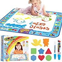 AMERTEER Drawing Mat Painting Large Magic Water Mat Suitable For 2 3 4 5 Years Boys Girls For Old Children Creative Educational Toys Gifts Painting Water Magic Mat 40 X 30 Inches Toddler Toys …