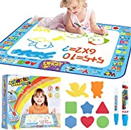 AMERTEER Drawing Mat Painting Large Magic Water Mat Suitable For 2 3 4 5 Years Boys Girls For Old Children Cre
